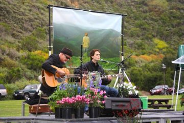 Kevin and Kyle McCormick performed a song in tribute of Nick Haverland at his memorial. Haverland was killed on May 11by an alleged drunk driver. Credit: Gemma Stoll/The Foothill Dragon Press.