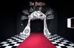 The open mouth of one of his characters serves as the entrance to Tim Burton's exhibit at the Los Angeles County Museum of Art. Creative Commons Photo by Flickr user brandon shigeta.