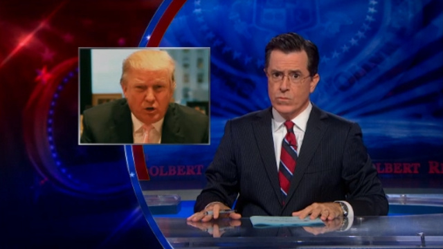 "The Colbert Report's ""Donald Trump's October Surprise"" is one of the Dragon Press' picks for best television episodes of 2012. Credit: Comedy Central"