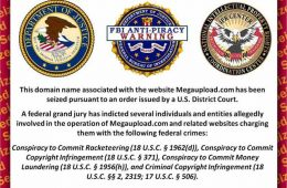 After being shut down by the federal government, this message appears to any viewer attempting to access Megaupload.com. Screenshot Credit: Aysen Tan/The Foothill Dragon Press.