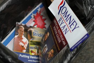 Republican candidates Mitt Romney and Tony Strickland lost Tuesday night. Credit: Aysen Tan/The Foothill Dragon Press