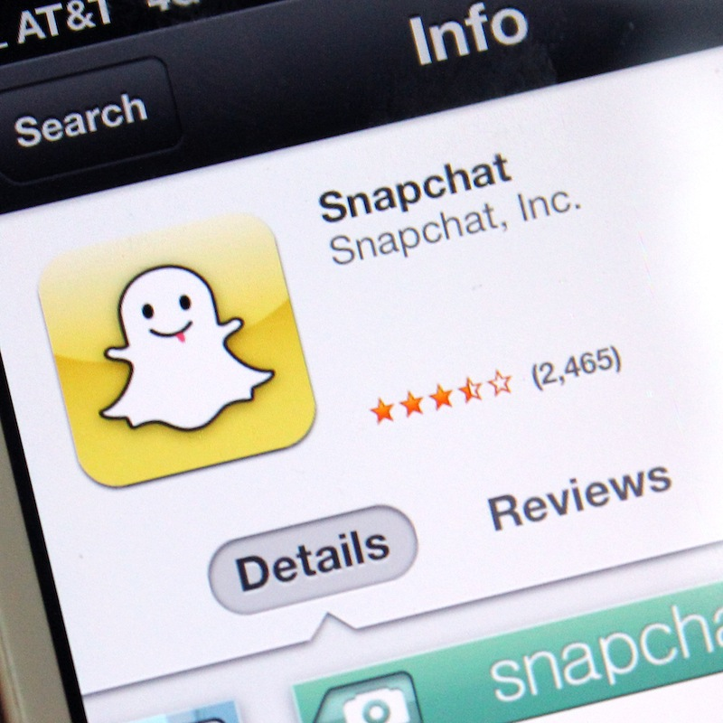 Snapchat is a privately social network of pictures sent to others for a small amount of time. Credit: Aysen Tan/The Foothill Dragon Press