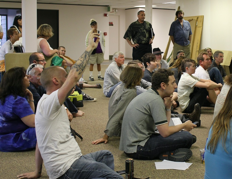 "Supporters of the ""Occupy"" movement met Wednesday evening to plan and discuss Saturday's protest. Credit: Ben Gill for The Foothill Dragon Press"