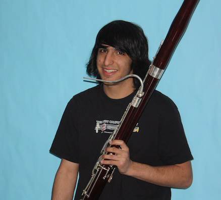 Senior Kassra Rafiee continues his passion for the bassoon through the Santa Barbara Youth Symphony. Credit: Danielle Draper/The Foothill Dragon Press.