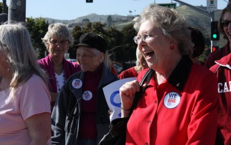 "Ventura educators march in ""sea of red"" against school budget cuts (44 photos)"