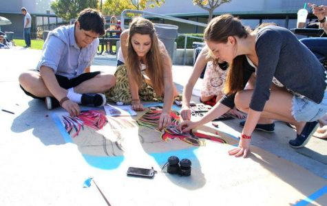Student artists showcase talents at Foothill's first chalk festival (13 photos)