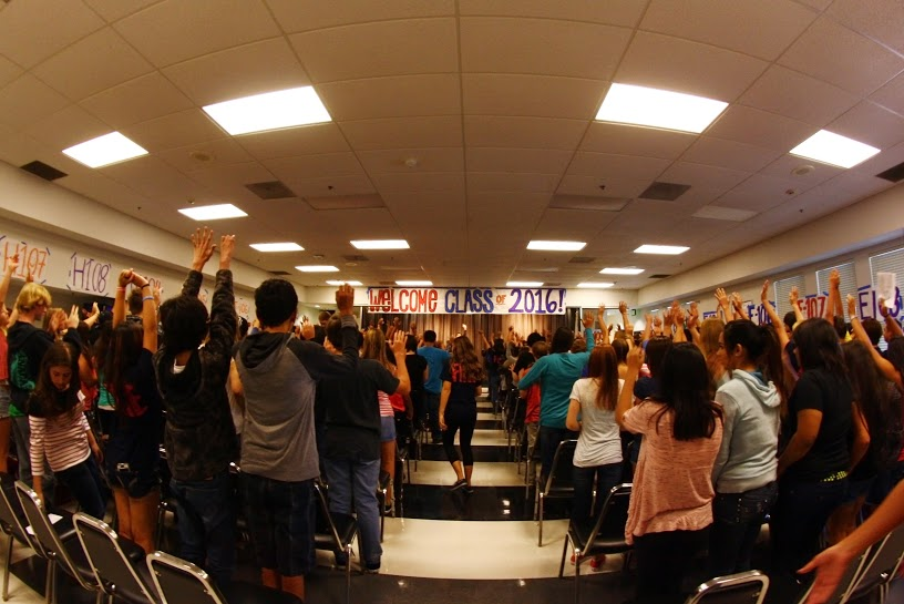 New students welcomed by teachers, FIRE leaders at orientation (29 photos)