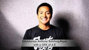 Salutatorian Anthony Balolong-Reyes