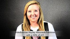 Valedictorian Hayley Abourezk-Pinkstone