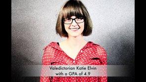 Valedictorian Katie Elvin