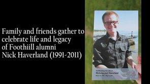 Memorial Service for Nick Haverland