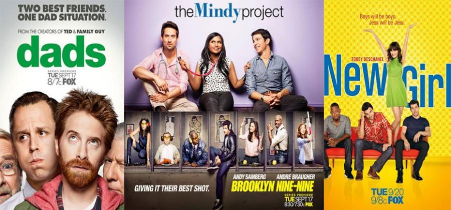 Dads, The Mindy Project, Brookyln Nine-Nine, and New Girl are all part of this falls Fox Tuesday night line-up. Collage Credit: Aysen Tan/The Foothill Dragon Press