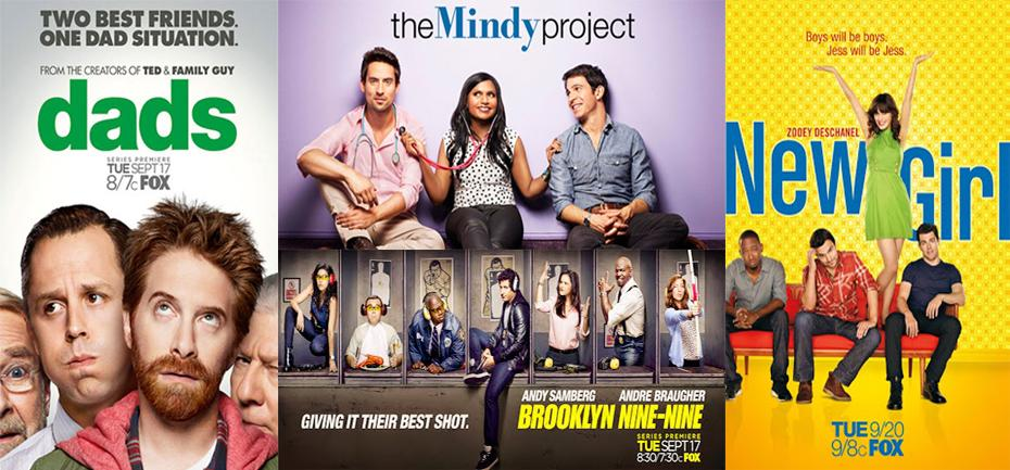 """""""Dads,"""" """"The Mindy Project,"""" """"Brookyln Nine-Nine,"""" and """"New Girl"""" are all part of this fall's Fox Tuesday night line-up. Collage Credit: Aysen Tan/The Foothill Dragon Press"""