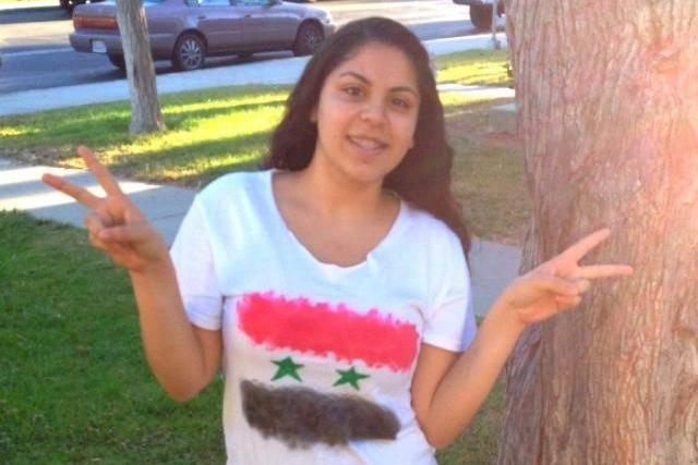 Junior Naja Hawara supports her homeland of Syria during this time of turmoil. Credit: