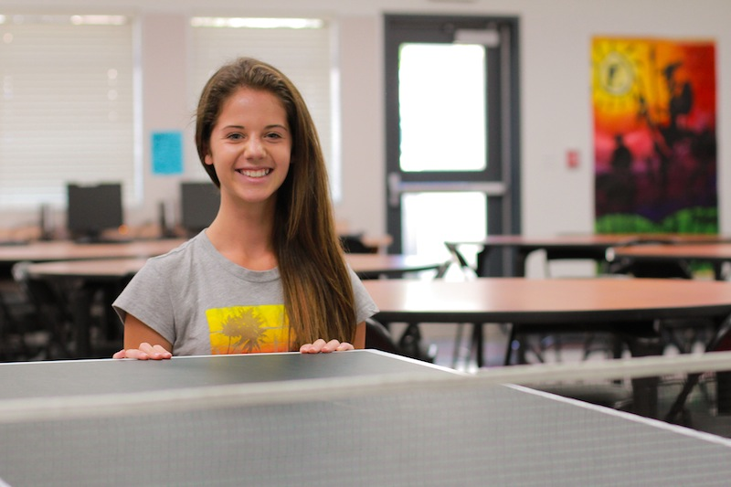 Sophomore Karina Cole will be the president of the new ping pong club on campus. Credit: Aysen Tan/The Foothill Dragon Press