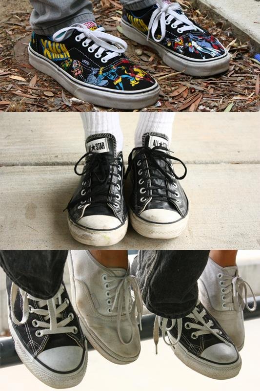 There s tough competition among high school students for the battle between  Converse and Vans. Credit 31d5e2f6b