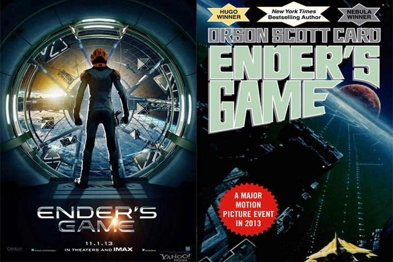 Enders Game, the movie, came out on November 1, while the book was published in 1985. Collage Credit: Josh Ren/The Foothill Dragon Press
