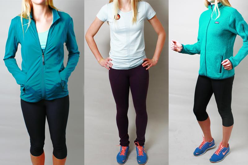 You can capture the sporty look by pairing a cute Patagonia jacket with leggings or yoga pants. Credit: Aysen Tan/The Foothill Dragon Press