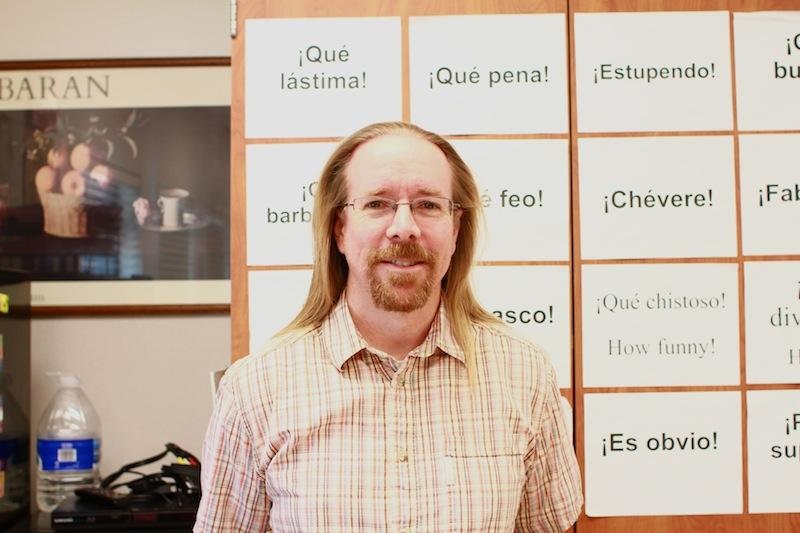 Spanish teacher Steve Perfect plans on shaving his head in March in honors of