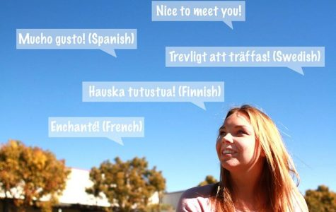 Maija Saarinen is a foreign exchange student from Finland and is fluent in 5 languages. Credit: Aysen Tan/The Foothill Dragon Press.
