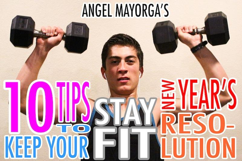 Easy ways to keep your New Years resolution to stay in good shape include working out with friends and getting a lot of sleep. Photo Illustration Credit: Aysen Tan/The Foothill Dragon Press