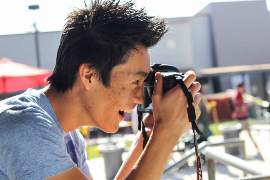 Senior Aysen Tan received $1,000 worth of camera gear for taking outstanding photographs. Credit: Josh Ren/The Foothill Dragon Press