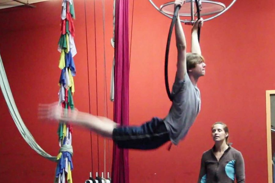 Kevin Holland expresses his love for aerial silk (video)