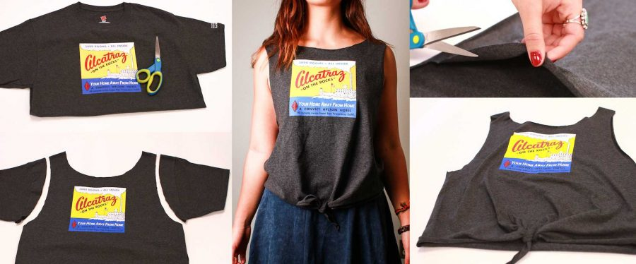 DIY: Transform any tee into a stylish tie-front tank