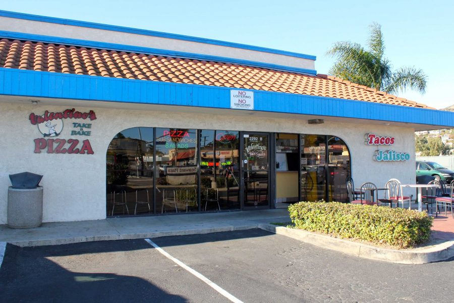 Valentinos Take-n-Bake Pizza is located just six minutes away from Foothill, and right across from Ventura High School. Credit: Angel Mayorga/The Foothill Dragon Press