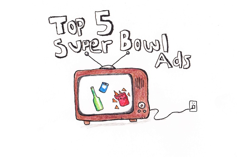 Below are the five best Super Bowl ads from the big game on Sunday night. Credit: Angel Mayorga & Michael Morales/The Foothill Dragon Press