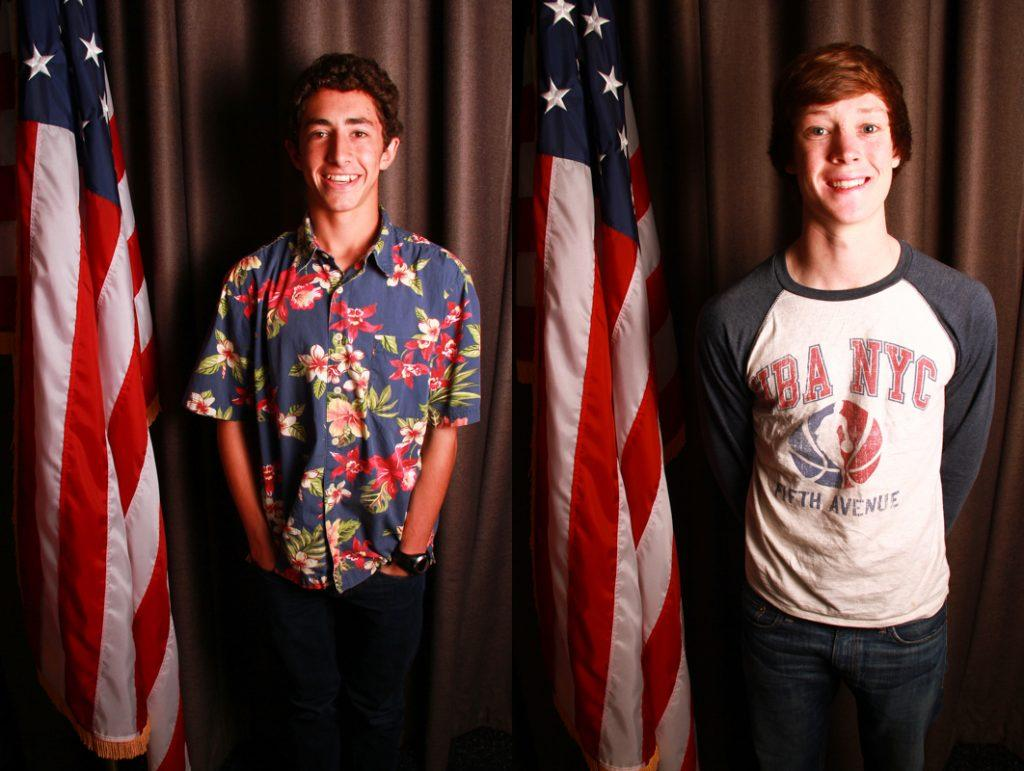 (Left to Right) Newly elected ASB President Evan Askar and Vice President Nick Vaughan. Credit: Aysen Tan/The Foothill Dragon Press