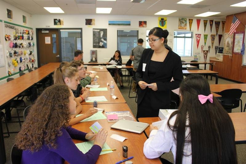 Freshmen debate how America Eats for 9th grade project