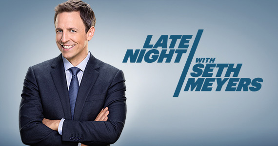 Late Night with Seth Meyers had a shaky start because of Meyers background in SNLs Weekend Update, but he does show promise. Credit: NBC Studios