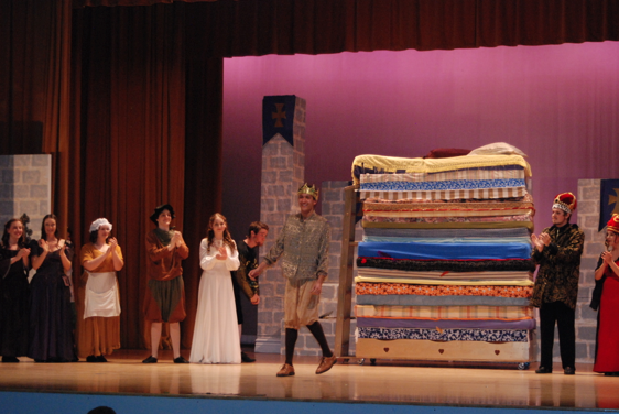 Actors in the VHS play Once Upon a Mattress take their bows onstage. Credit: Kazu Koba/The Foothill Dragon Press