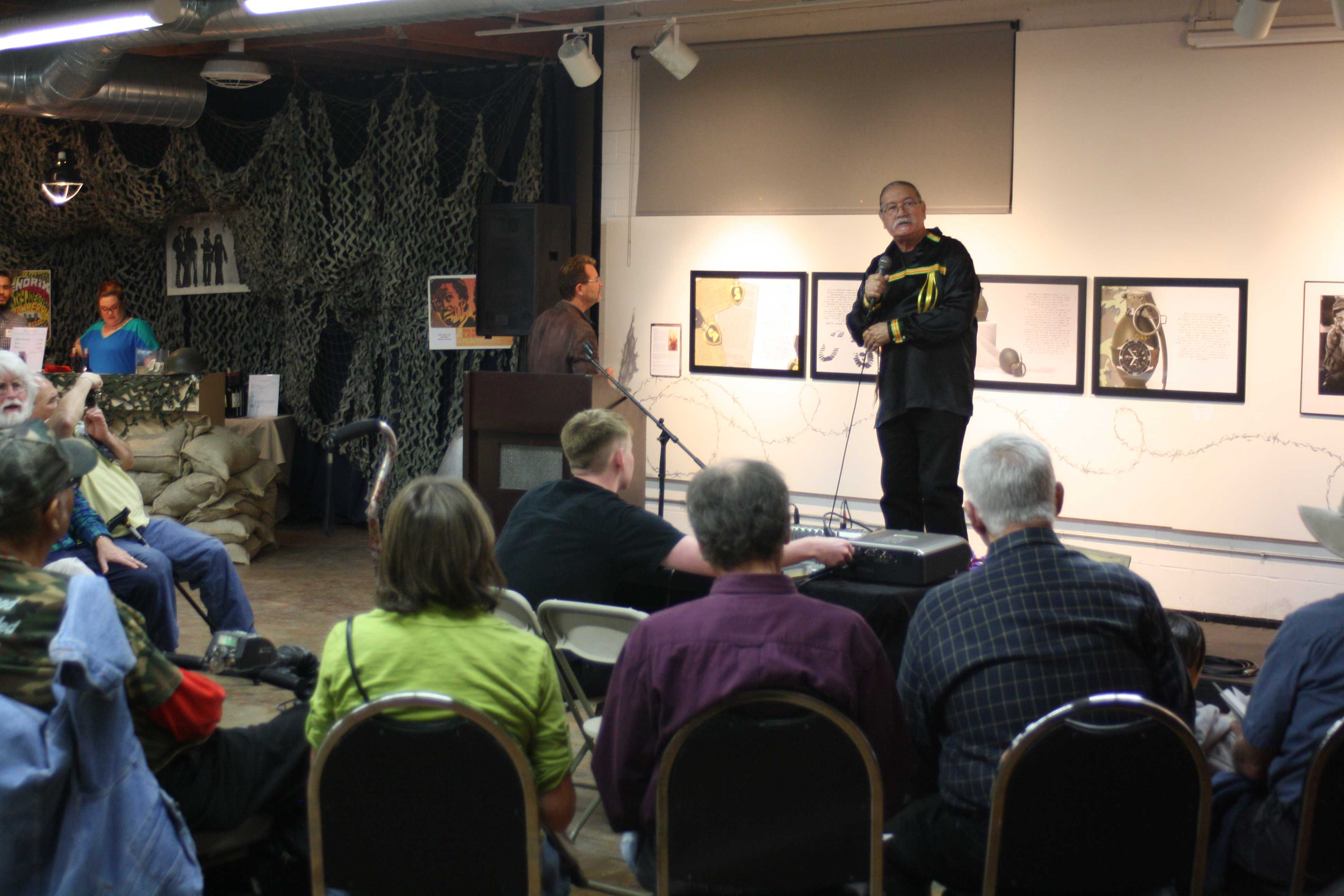 Local artist Moses Mora spoke at