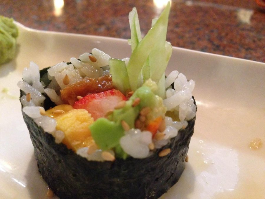 The Jessica Roll from Kibo Sushi. Credit: Katie Sones/The Foothill Dragon Press