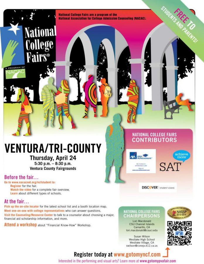 The National College Fair will be held at the Ventura Fairgrounds tomorrow. Credit: Tri-County National College Fair/The Foothill Dragon Press