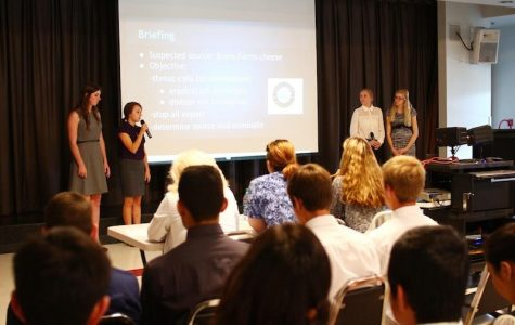 Bioscience students presented their disease projects last week in Spirito Hall. Credit: Aysen Tan/The Foothill Dragon Press