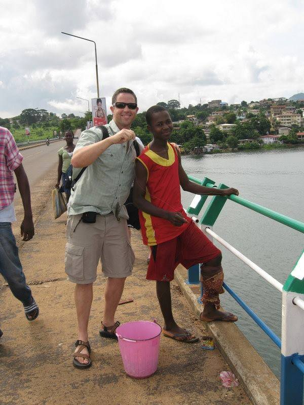Mr. Prewitt visited Sierra Leone in 2010 to help with the School's for Salone program. Credit: Cherie Eulua