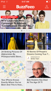 The Buzzfeed app allows users to browse through content without being overwhelmed. Credit: Aysen Tan/The Foothill Dragon Press