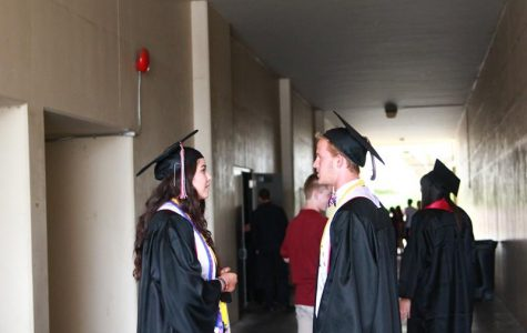 Seniors prepare to turn their tassels behind the scenes of graduation. Credit: Josh Ren/The Foothill Dragon Press
