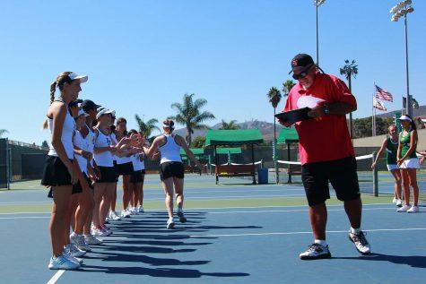 Tennis coach Brad McClain serves up success
