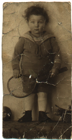 Bernd Simon as a child. He was raised in Essen, Germany. Photo provided by Cherrie Eulau