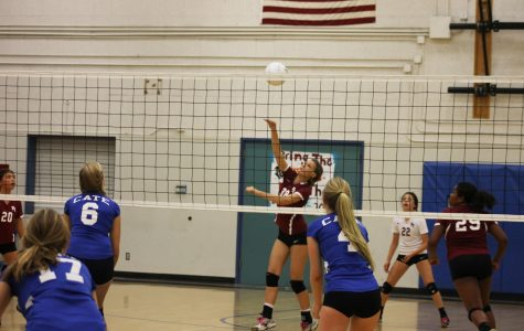 Girls volleyball team gives it their all in last home game of the season
