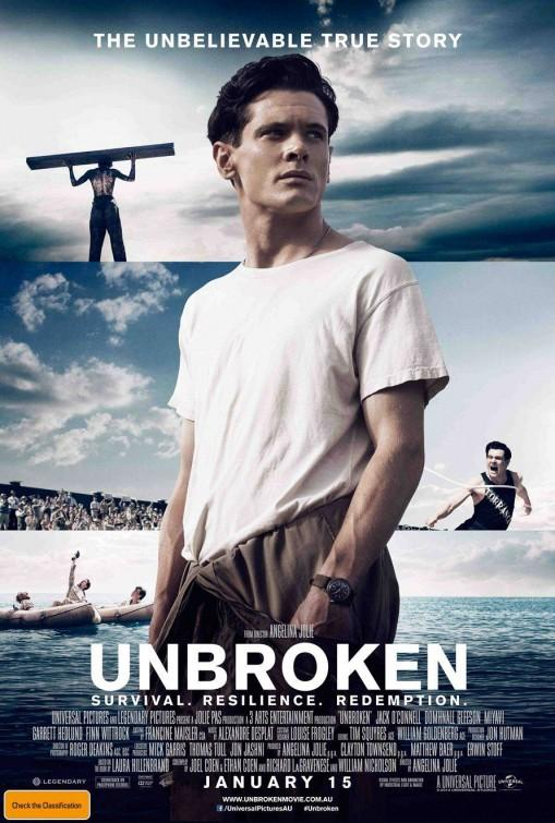 Louis Zamperini plays Jack O'Connell in Unbroken. Credit: The Arts Centre Gold Coast
