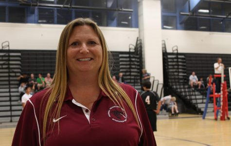 Janine Cobian is enthusiastic for the boys' volleyball season