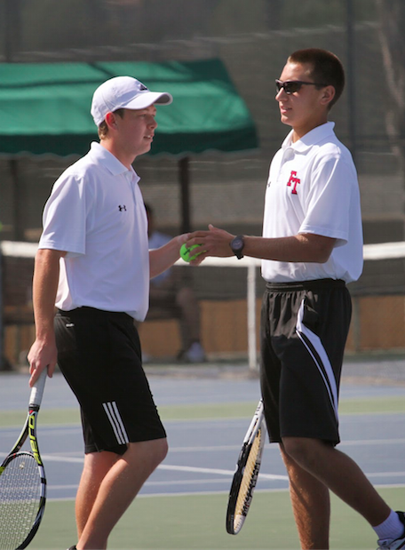 The boys' tennis team defeated Santa Clara with a final score of 13-5. Credit: Sarah Kagan/The Foothill Dragon Press
