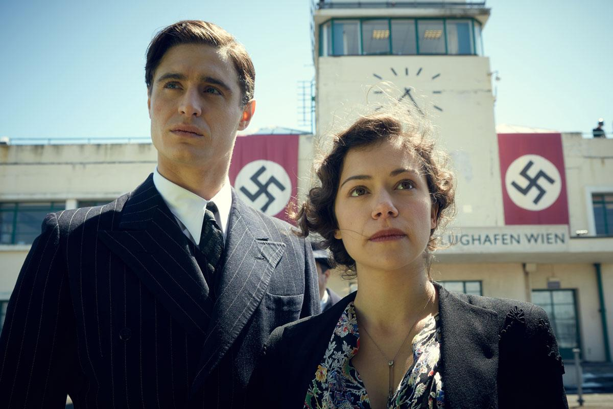 "Max Irons and Tatiana Maslany star in ""Woman in Gold."" Credit: The Weinstein Company and BBC Films"