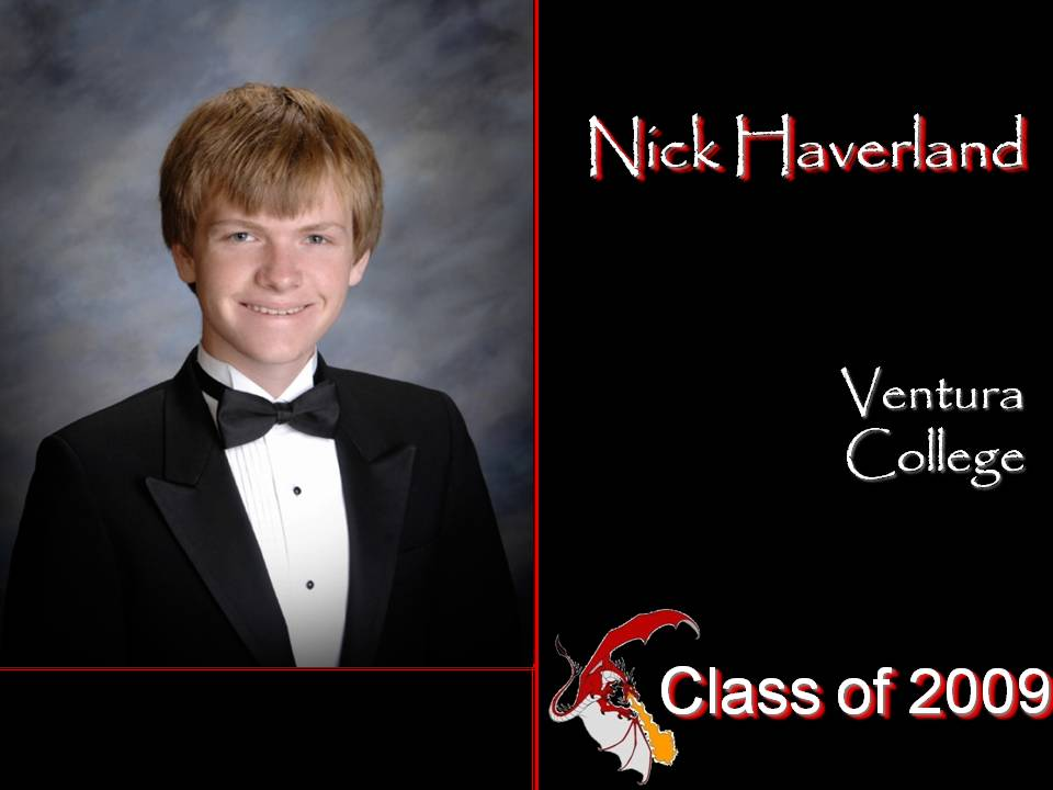 Nick Haverland's senior yearbook photo. Credit: Foothill Technology High School