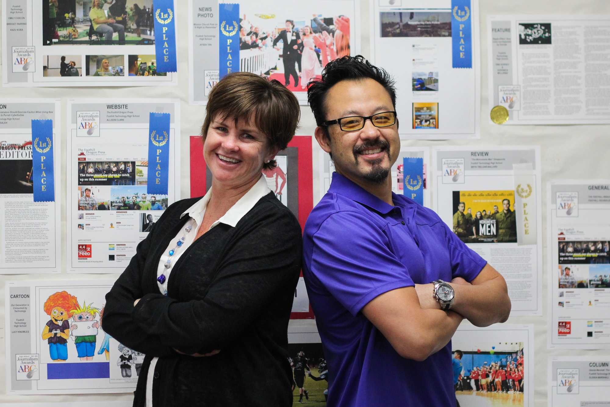 The Dragon Press adviser Melissa Wantz is leaving Foothill to become the new adviser of The Harvard-Westlake Chronicle. Yiu Hung Li will take over as the new adviser beginning next year. Credit: Chloey Settles/The Foothill Dragon Press